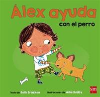 Álex ayuda con el perro
